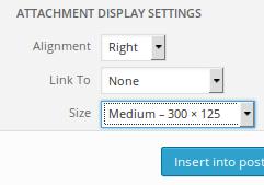 select WP media size